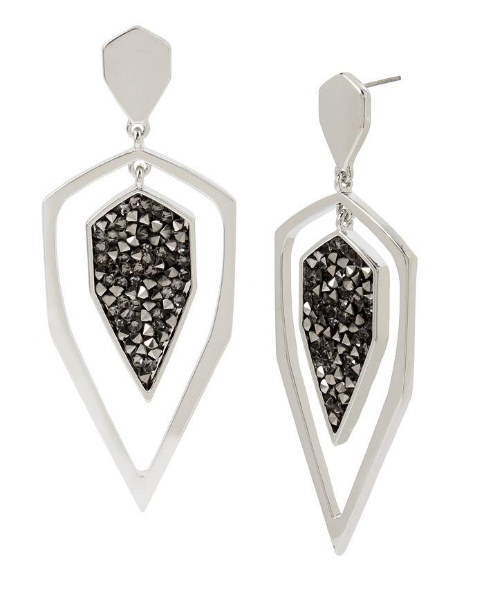 """Jessica Simpson - Geometric Orbital Earrings, 2.8"""""""