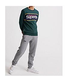 Men's Core Logo Stripe Crew Sweatshirt