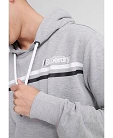 Men's Core Logo Sport Stripe Hooded Sweatshirt