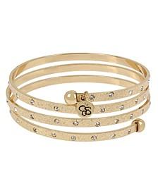 "Stone Textured Coil Bracelet, 8"""