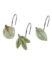 Ombre Leaves Shower Hooks, Set of 12