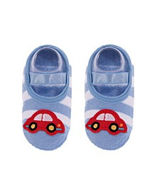 Toddler and Little Boys Socks with Car Applique
