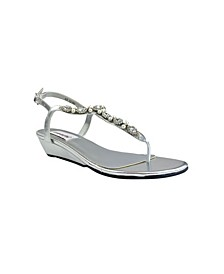 Myra Imitation Pearl Wedge Sandal
