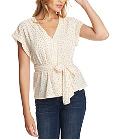 Dotted Belted Top