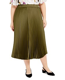 Plus Size Pleated A-Line Skirt, Created for Macy's
