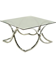 Sarif Glass Top Coffee Table