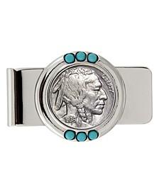 Buffalo Nickel Turquoise Coin Money Clip