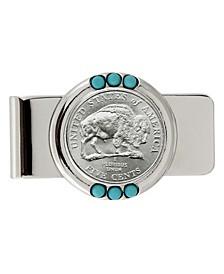 Westward Journey Bison Nickel Turquoise Coin Money Clip