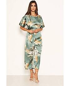 Women's Duck Egg Floral Print Culotte Jumpsuit