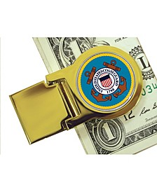 Coin Money Clip with Colorized Coast Guard Washington Quarter
