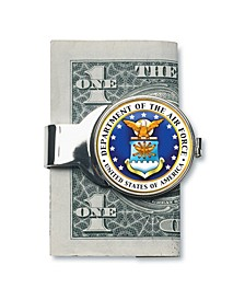 Money Clip W/Colorized Air Force JFK Half Dollar