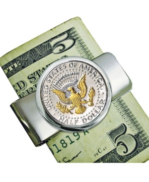 Presidential Seal Selectively Gold Layered Coin Money Clip