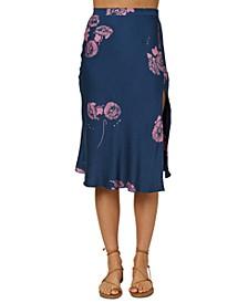 Juniors' Slippin Printed Skirt