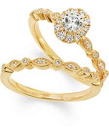 Diamond Bridal Set (3/8 ct. t.w.) in 14k Gold