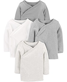 Baby Boys or Girls 4-Pack Side-Snap Cotton Shirts