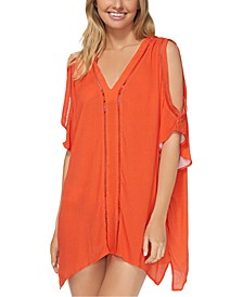Juniors' Caftan Swim Cover-Up