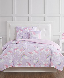 Rainbow Unicorn Full 4 Piece Comforter Set