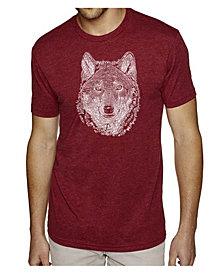 LA Pop Art Men's Premium Word Art T-shirt - Wolf
