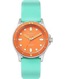 Women's Fisk Green Silicone Strap Watch 38mm