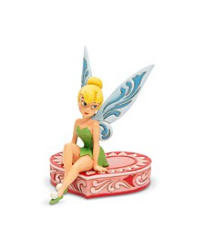 Tink Sitting On Heart Figurine