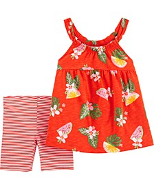 Baby Girls 2-Piece Floral Tank and Short Set