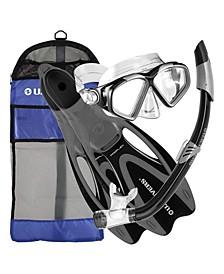 Cozumel Snorkeling Set with Fins, Mask, Snorkel and Bag