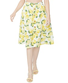 Button Front Lemonade Skirt