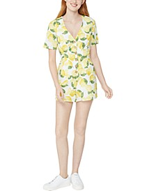 Button-Front Lemonade Romper