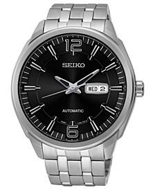 Men's Black Stainless Steel Bracelet Watch 44.5mm