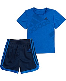Baby Boys 2-Pc. Printed T-Shirt & Mesh Shorts Set