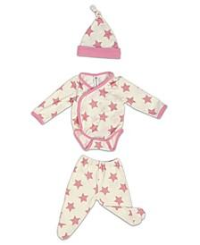 Baby Girls Bamboo 3 Piece Star Newborn Set