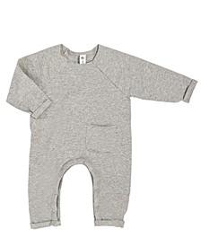 Baby Boys and Girls Organic Cotton Raw Edge Romper