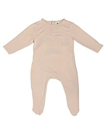 Baby Girls Bamboo Heart Long Sleeve Back flap