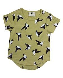 Toddler Girls Organic Cotton Puffins T-Shirts