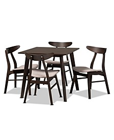 Britte Upholstered 5 Piece Dining Set