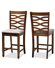 Lanier Modern and Contemporary Upholstered 2 Piece Counter Height Pub Chair Set