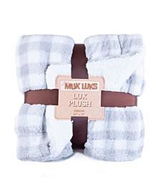 Super Soft Buffalo Plaid Double Layer Sherpa Throw Blanket