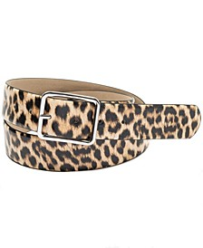 INC Animal Print Panel Belt, Created for Macy's