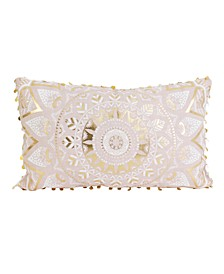12x20 Mindy Medallion Pillow in Pink