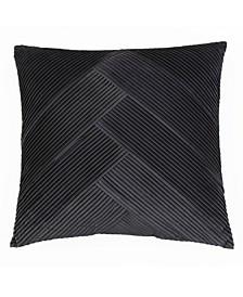 20x20 Abigail Pleated Velvet Pillow