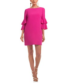 Leona Ruffle-Sleeve Dress