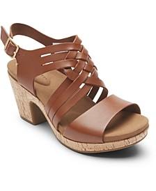 Women's Vivianne Woven Slingback Sandals