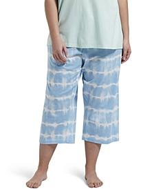Plus Size Tie Dye Capri Pant