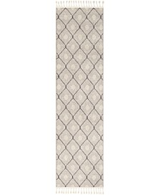 """Restoration REO-2303 Taupe 2'7"""" x 10' Runner Area Rug"""
