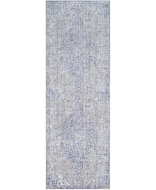 "Wonder WAM-2300 Plum 3'1"" x 9' Runner Area Rug"