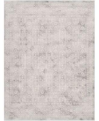 """Roma ROM-2307 Gray 7'10"""" x 10' Area Rug"""