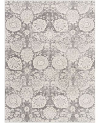 """Roma ROM-2311 Charcoal 6'7"""" x 9' Area Rug"""