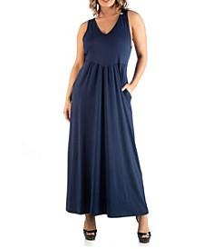 Women's Plus Size Maxi Sleeveless Dress