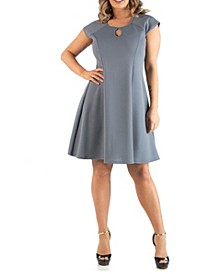 Women's Plus Size Keyhole Neck Dress