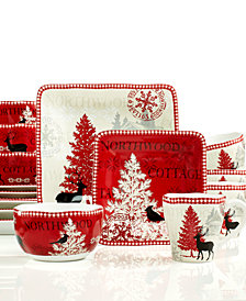 222 Fifth Northwood Cottage 16 Piece Dinnerware Set